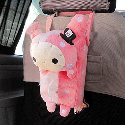 Xhan Cute Xhan Cute Soft Pink Plush Master Rabbit Tissue Box Cover Car Accessories Home Decor