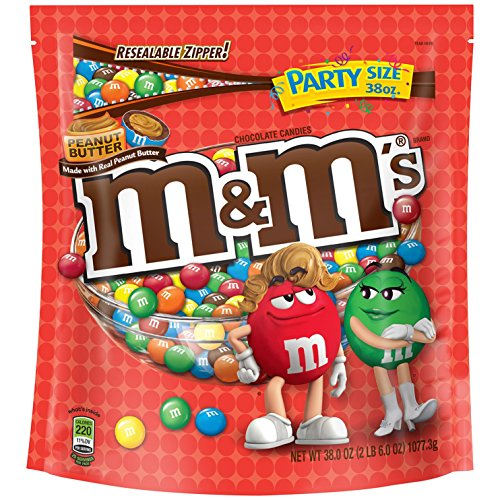 M&M'S Peanut Butter Chocolate Candy Party Size 38
