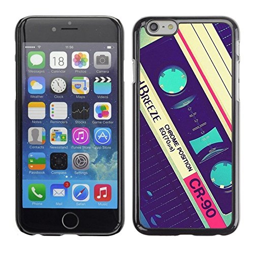 Cassette Old Vintage Retro Music Tape Phone Case [Customizable by Buyers] [Create Your Own Phone Case] Slim Fitted Hard Protector Cover for iPhone 4 4s