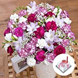 Bunches Happy Birthday Gift - Flowers, Birthday Cake and Chocolates with Free UK Delivery