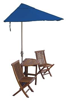 Blue Star Group Terrace Mates Caleo Economy Olefin Table Set, 7.5'-Height, Blue