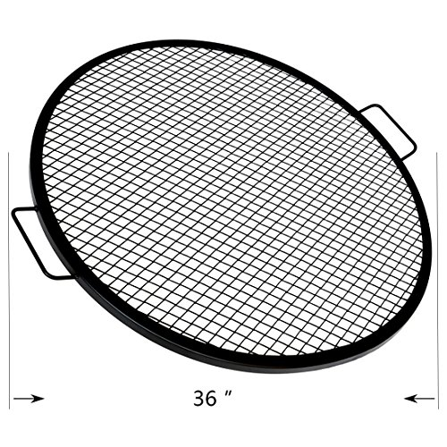 Onlyfire Heavy Duty Round X-Marks Fire Pit Cooking Grate Grill, 36'' (Heavy Duty Wire Mesh compare prices)