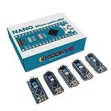 KOOKYE 5PCS Nano V3.0 ATMEGA328P Module CH340G 5V 16M Mini USB Micro-controller Board for Arduino(Nano5) (Tamaño: Nano *5)