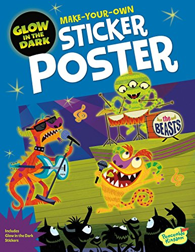 Peaceable Kingdom Monster Rock Show Glow In the Dark Sticker Activity Poster Book