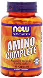 NOW Sports Amino Complete, 120 Capsules