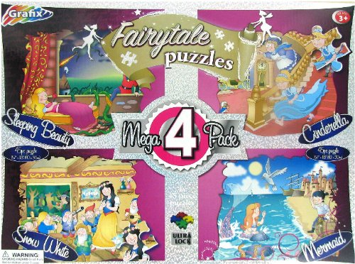 Set of 4 Fairytale 45 Piece Jigsaw Puzzles