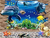 Artshai fish aquarium 3d wall sticker for kids room