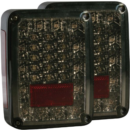 Anzo Usa 311203 Smoke Led Tail Light For Jeep Wrangler