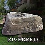 35 in. Outdoor Polyethylene Artificial Planter Rock