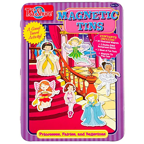 T.S. Shure Princesses, Fairies & Ballerinas Magnetic Tin Play Set - 1