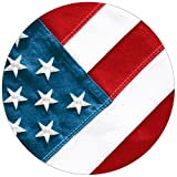 Creative Converting Red, White and True, Value Pack Round Dinner Plates, 50 Count