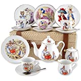 Reutter 15 Piece Collectible Beatrix Potter Porcelain Tea Set With Trunk Carry Case Size Large Made In Germany