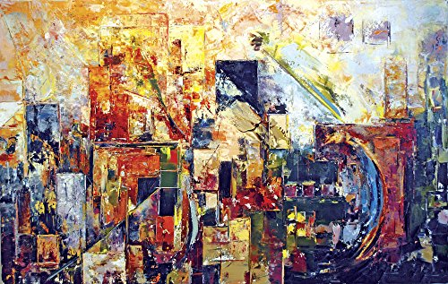 Faim Paintings Canvas Print Of Abstract Art Discover - Frameless, 39x24 Inch