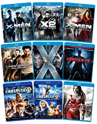 Marvel Blu-ray Bundle (X-Men, X-Men 2, X-Men 3, X-Men First Class, Wolverine, Fantastic Four, Fantastic Four 2, Daredevil, Elektra)