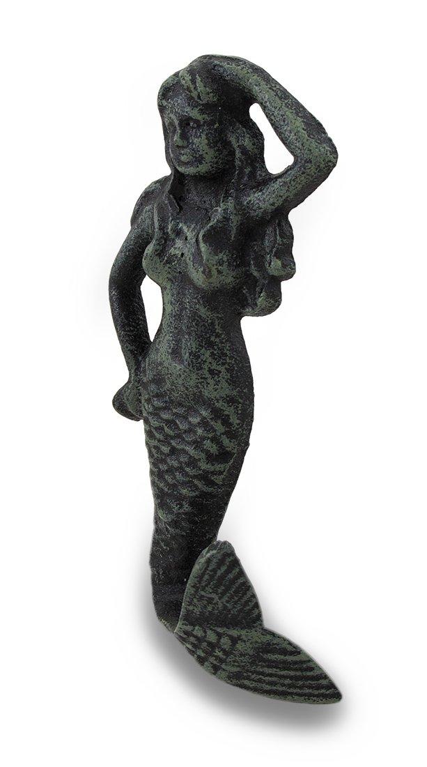 Goddess of the Sea Cast Iron Mermaid Wall Hook