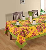 Swayam Libra Printed Cotton 6 Seater Table sheet- Yellow (RDS16-60X90-2410)