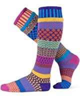 Solmate Socks - Mismatched Knee High Socks; Made in USA with Recycled Cotton Yarns