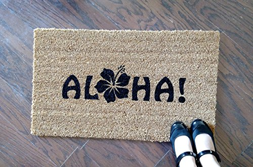Aloha-with-a-Flower-Custom-Doormat-Size-Small-by-Killer-Doormats