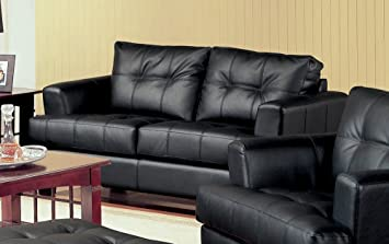 Coaster Samuel Black Loveseat