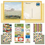 Scrapbook Customs Themed Paper and Stickers Scrapbook Kit, Wisconsin Vintage