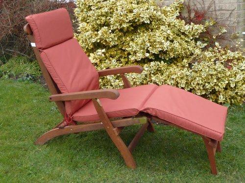 UK-Gardens Terracotta Garten Möbel liegestuhl Polsterung - Wechselbarer Bezug - Nutzung in Haus oder Garten