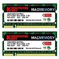 Komputerbay J19 Macmemory Apple Arbeitsspeicher 4GB Kit (2x 2GB Module, PC2-5300, 667MHz, 200-polig) DDR2-SODIMM f�r Apple iMac und Macbook Speicher