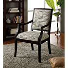 Blake Script Fabric Accent Chair