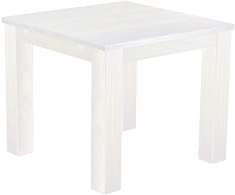 Solid Pine Wood Dining Table 90 x 90 cm in White
