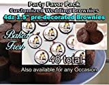Wedding Favors Personalized Party Set ,Brownies Customized and 100% Edible. Comes Packed with 4 Dozen Custom Pre-decorated Brownies. Brownies Are Baked Fresh Brownies Life Span 1 Month. 48 Count . Shipping Goes Priority 2-3 Business Days.
