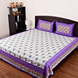 RajasthaniKart Platina Cotton Double Bedsheet and 2 Pillow Covers