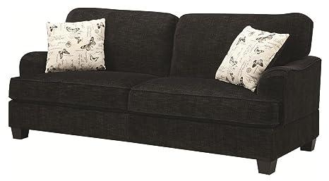 Coaster Home Furnishings 503781 Casual Sofa, Black