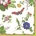 Entertaining with Caspari Famille Rose Paper Luncheon Napkins, Pack of 20