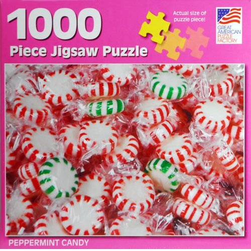 Great American Puzzle Factory Peppermint Candy 1000 Piece Puzzle