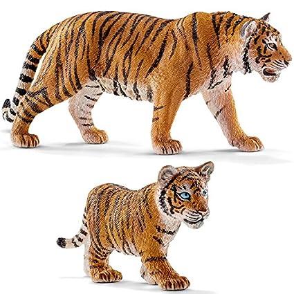 Schleich Tigre Du Bengale Mâle Bébé Tigre Du Bengale Set Avec 2 Figurine