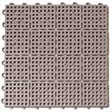 Greatmats Patio Outdoor Tile 10 Pack (Gray)