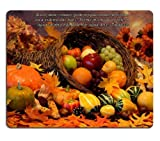Santiago James Thanksgiving Cornucopia Biblia Mouse Pads Customized Made to Order Support Ready 9 7/8 Inch (250mm) X 7 7/8 Inch (200mm) X 1/16 Inch (2mm) High Quality Eco Friendly Cloth with Neoprene Rubber Liil Mouse Pad Desktop Mousepad Laptop Mousepads Comfortable Computer Mouse Mat Cute Gaming Mouse pad