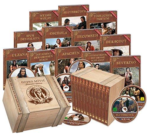 Gojko Mitic' Sammler-Edition - 12 Indianerfilme in rustikaler Holzbox - limitierte Auflage!! [Limited Edition] [12 DVDs]