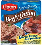 Lipton Recipe Secrets Beefy Onion Soup (414080) 2.2 oz