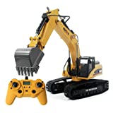 SGI HUINA 580 Excavator RC Car Toys Styling 23 Channel Road Construction All Metal Truck Autos