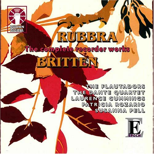 Complete Recorder Works of Rubbra & Britten - 1