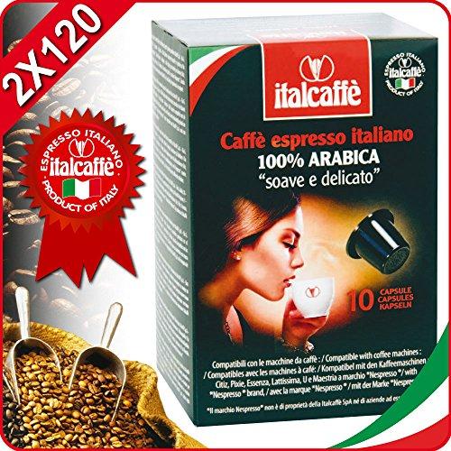 Buy 2 x 120 Italcaffe Arabica Coffee Pods Capsules Nespresso Compatible - Italcaffè S.p.A.