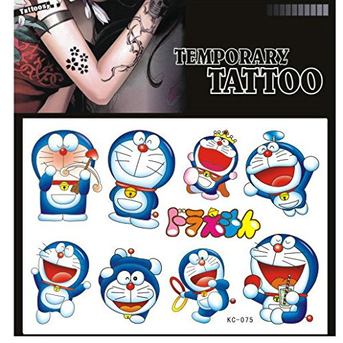 SYZ Beauty Waterproof Temporary Tattoos Doraemon Japanese Cartoon Tattoos