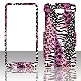 2D Pink Safari Motorola Droid Razr M XT907 Verizon Cases Cover Hard Case Snap-on Rubberized Touch Case Cover Faceplates