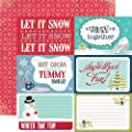 Echo Park Keepin' Cozy Let It Snow 12x12 Winter Scrapbook Paper