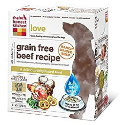 The Honest Kitchen Love: Grain Free Beef Dog Food, 4 lb by The Honest Kitchen
