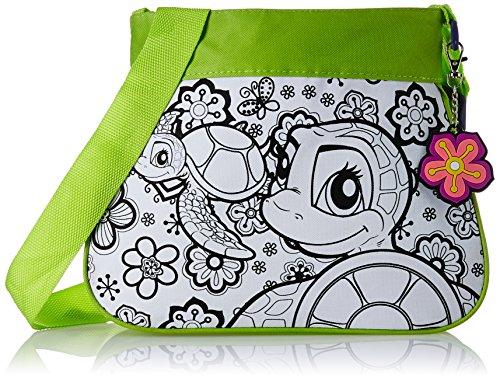 Wild Republic 10716 - Borsetta alla moda da decorare, con portachiavi, motivo: animali marini, 32 pezzi, colore: Verde