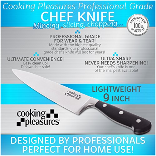 cooking pleasures professional grade chef knife ultra sharp lightweight 9 inch sporting goods. Black Bedroom Furniture Sets. Home Design Ideas