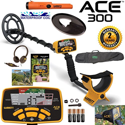 garrett-ace-300-metal-detector-with-waterproof-coil-pro-pointer-at-and-carry-bag