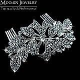 New 100% Luxurious Crystal Leaf Bowknot Imitation Gemstone Bridal Hair Combs Tiara Wedding Hair Accessories Hair Jewelry