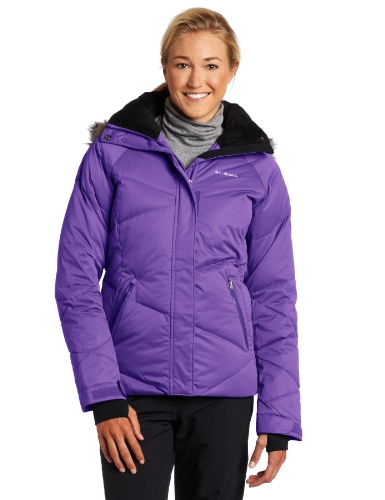 Columbia Women's Lay 'D' Down Jacket, Hyper Purple, X-Small
